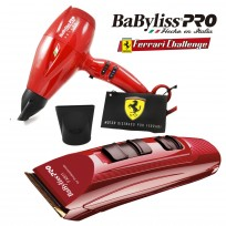 Máquina de Corte Profesional Babyliss Pro X2 Ferrari Volare + Secador de Pelo Profesional Volare V2