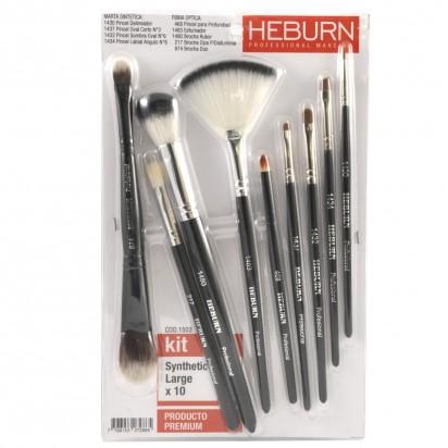 Kit Pinceles Maquillaje Synthetic Large x 10 Heburn