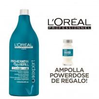 Shampoo Pro-Keratin Refill Serie Expert Loreal Professionnel x 1500ml + Ampolla Pro-Keratin DE REGALO