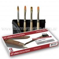 Kit Pinceles para Uñas Esculpidas Heburn