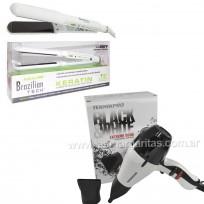 Combo Plancha Brazilian 9559 Babyliss Pro + Secador Black & White Teknikpro