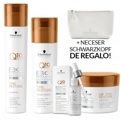 Pack BC Time Restore Schwarzkopf: Shampoo x250ml + Acondicionador x200ml + Tratamiento x200ml + Serum x30ml