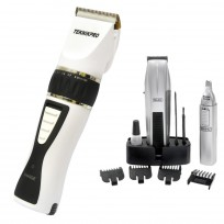 Máquina de Corte Profesional Black & White Teknikpro + Trimmer + Nasal Mustache & Beard Wahl
