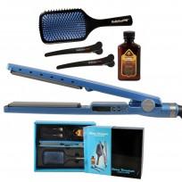 Kit BaByliss Pro Nano Titanium: Plancha 2091 + Cepillo Paleta + Separadores Babyliss Pro + Aceite de Argan
