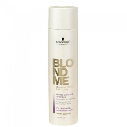 Shampoo para Rubios y Mechas con Queratina Blondme Schwarzkopf x 250ml.