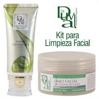 Kit para Limpieza Facial: Gel Exfoliante + Limo Facial Dr. Duval