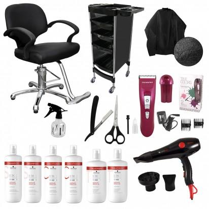 Combo Sillón Advantage + Herramientas + Shampoo + Acondicionador + Tratamiento Schwarzkopf